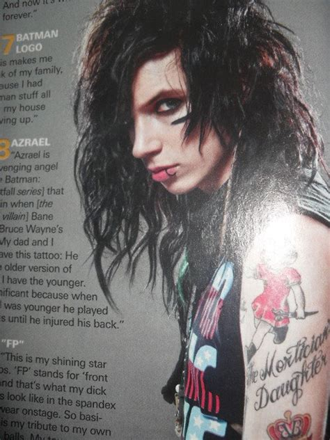andy talks about his tattoos in revolver black veil