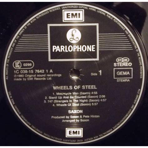 Kaos Fangkeh Saxon Wheels Of Steel wheels of steel by saxon lp with vinyl59 ref 115914687
