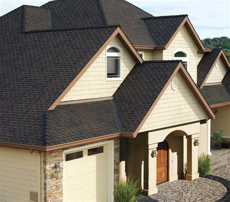 houses with black roofs gaf grand canyon shingle photo gallery