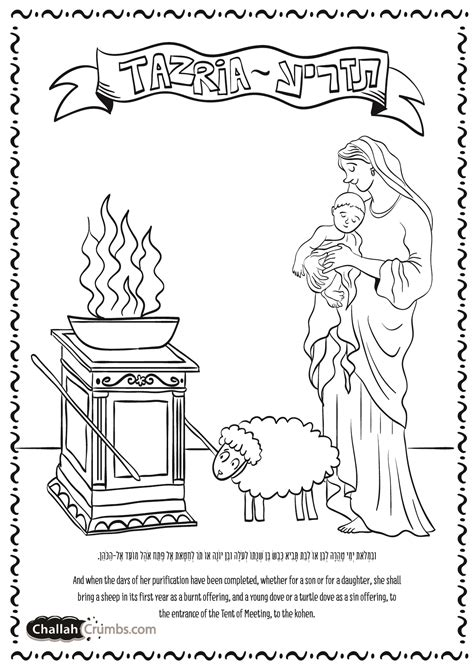 coloring page for parshat tazria click on picture to
