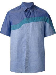 Kemeja Kenzo camisa corta a cuadros color fucsia azul oscuro yet casual mens fashion