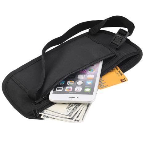 Travel Pouch Eleven Tuatara travel pouch zippered waist compact security money waist belt bag td07401 11street