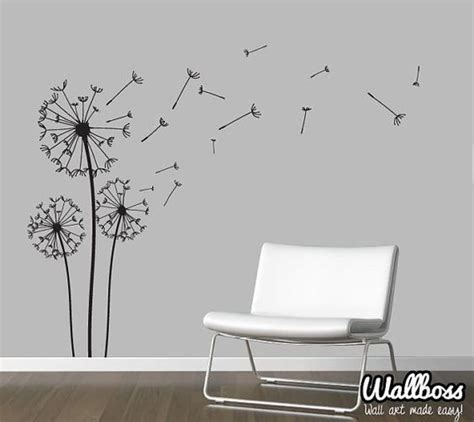 dandelion wall sticker dandelion wall decal wall stickers blowing away in the