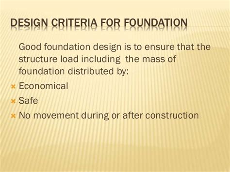 design criteria of well foundation chapter 3 building foundation