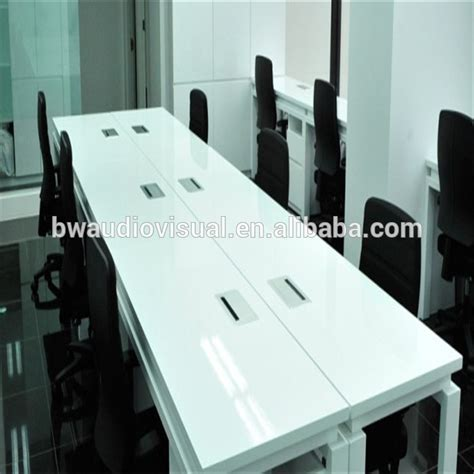 desk with electrical outlets new design office furniture table socket with brush