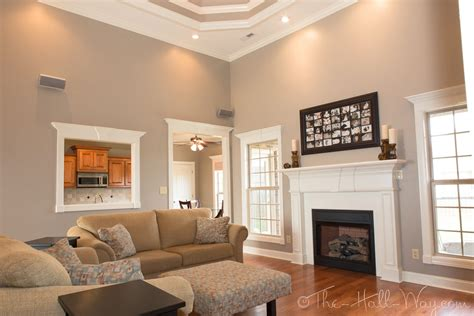 family room paint colors summer tour of homes the hall way