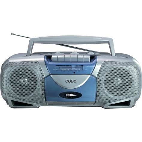 cassette cd player coby portable cassette player recorder with am fm radio