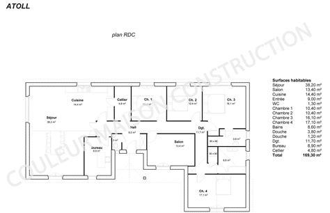 Plan Maison Moderne Plain Pied Gratuit Plan Maison Plein plan maison plain pied 3 chambres moderne maison moderne
