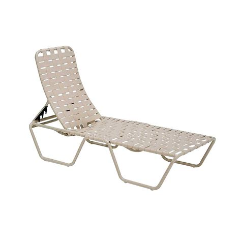 lawn chaise tradewinds lido crossweave contract antique bisque patio