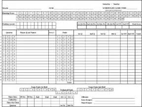 Basketball Score Sheet Excel Template by Basketball Score Sheet Free Premium Templates