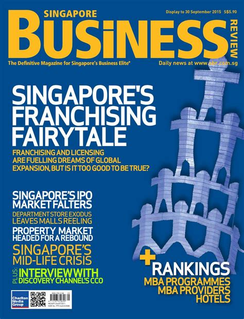 Isu Mba Ranking by Singapore Business Review August September 2015 By