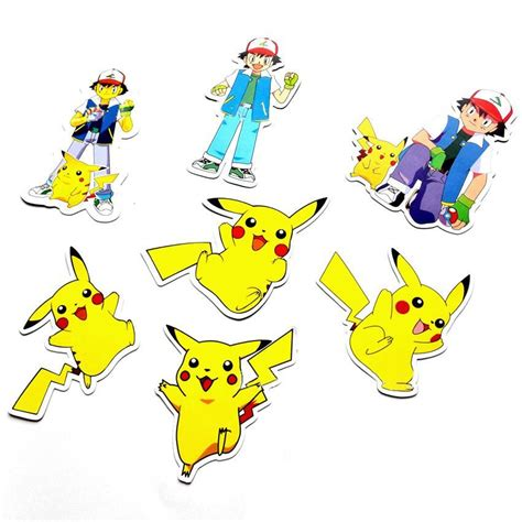 Stiker Laptop Pikachu Pb 01 43pcs stickers pikachu skateboard for laptop