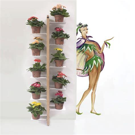 porta vasi in legno zia flora p porta vasi verticale da terra fissata a