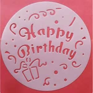 pochoir g 226 teau d 233 coration patisserie joyeux anniversaire