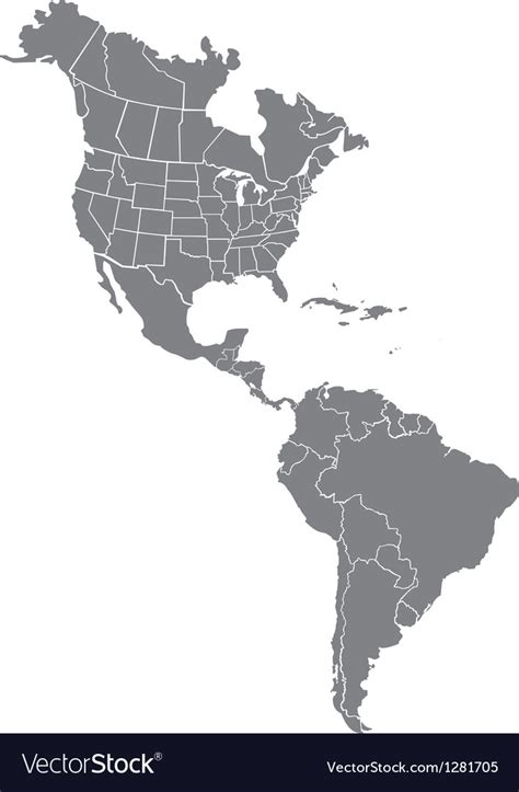 usa map free vector and south america map royalty free vector image