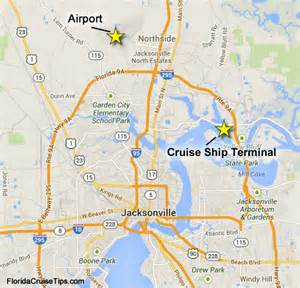 map of florida ports cruises getting to the jacksonville port port transportation