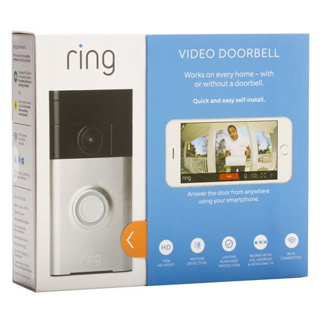 ring wi fi enabled video doorbell ring satin nickel wi fi enabled video doorbell focus camera