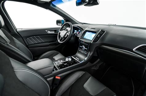 ford st interior 2019 ford edge goes st gets mid cycle refresh
