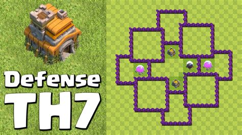 layout design th7 clash of clans town hall 7 defense base design coc th7