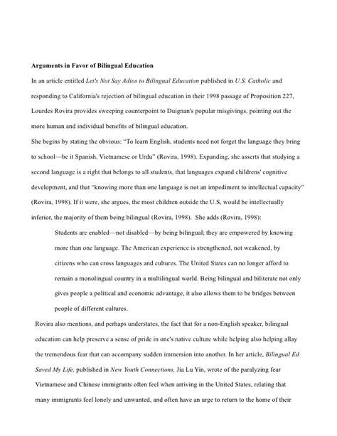 research paper on bilingual education bilingual education essay
