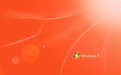 wallpaper for windows 7 themes windows 7 theme orange wallpapers and images wallpapers