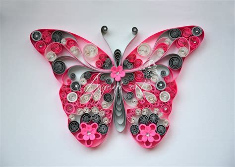 tutorial quilling butterfly quilling pink butterfly tutorial doovi