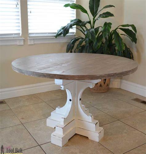 Farmhouse Style Table by Farmhouse Style Pedestal Table Tool Belt