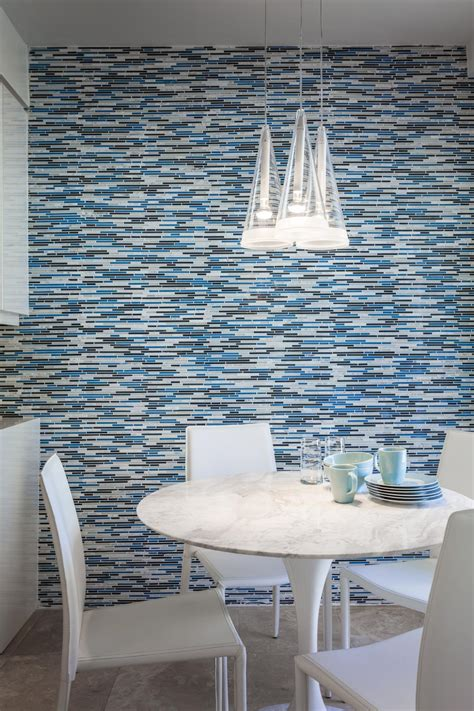 Photos hgtv small dining room with mosaic tile accent wall amazing mirror tiles for walls decor