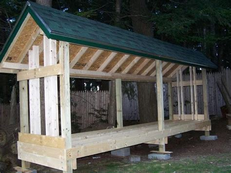 free plans for building a firewood shed quick woodworking projects