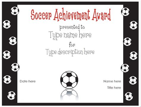 templates for soccer awards soccer certificate templates activity shelter