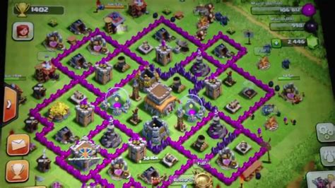 coc village layout level 8 best clash of clans defense strategy for town hall level