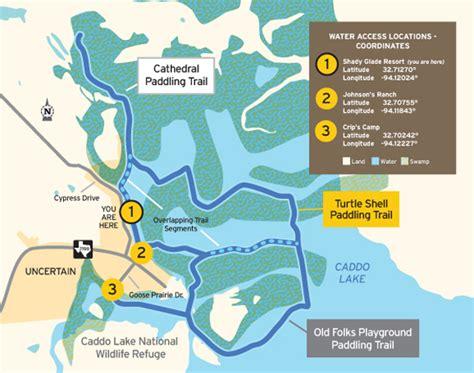 texas landmarks map tpwd cathedral paddling trail texas paddling trails