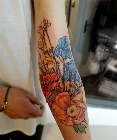 32 Cutest Flower Tattoo Designs For Girls That Inspire Flower Arm Tattoos