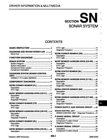 2008 infiniti ex35 sonar system section sn pdf