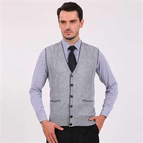 Vest Cardigan Denim 2015 new fashion solid wool v neck cardigan sweater vest knitwear sleeveless cusual sale