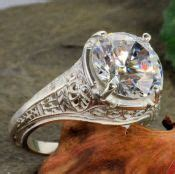 antique reproduction filigree ring settings mountings