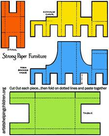 cardboard dolls house furniture templates how to make a paper doll house table chairs