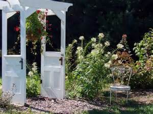 Repurposed Doors In The Garden Recycling Old Wooden Doors And Windows For Home Decor