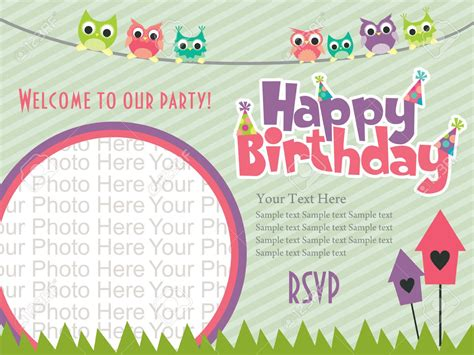 birthday card invitation template for a birthday invitation cards design best ideas