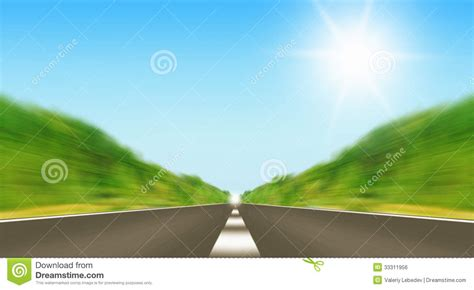 express road express road disappearing the horizon stock image