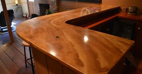 Gfrc Countertops by Basement Gets Concrete Bartop And Polished Floors The