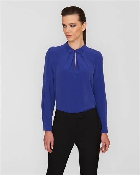 Branded Esprit Cut Paisley T Shirt Bright Blue lyst jaeger silk raglan sleeve blouse in blue