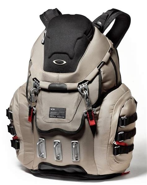 oakley kitchen sink backpack grey fossil padded panel