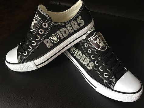 raiders sneakers oakland shoes by shoejourney on etsy