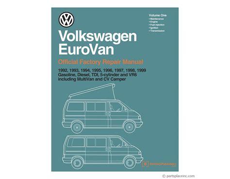 car engine repair manual 1999 volkswagen eurovan lane departure warning vw eurovan bentley repair manual free tech help