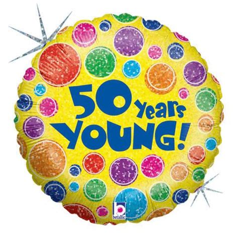 Ea Decorate Foil Balloon with its many prominent colors our quot 50 years quot foil