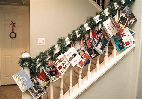 how to display christmas cards 18 christmas card display ideas the organised housewife