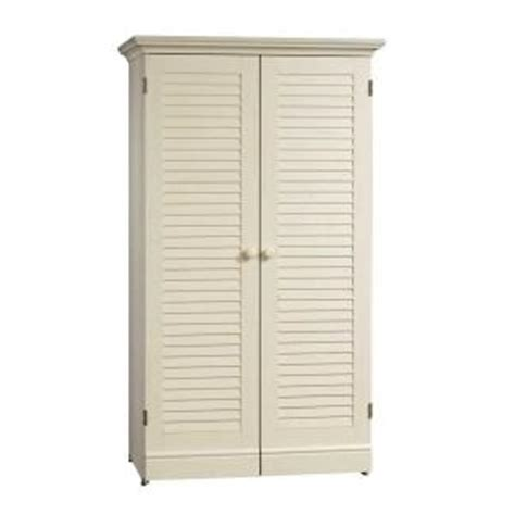 Sauder Harbor View Craft Armoire Antiqued White by Buy Sauder Harbor View Collection 35 1 8 In W X 61 5 8