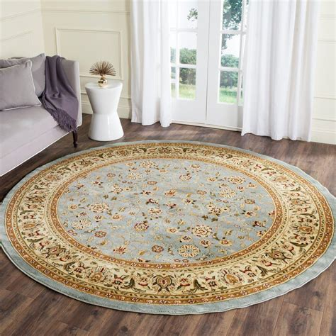 10 ft rug safavieh lyndhurst light blue ivory 10 ft x 10 ft