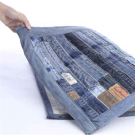 upcycled denim upcycled patchwork denim jean rug textiles and linens